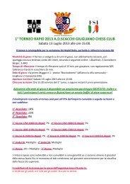1° torneo rapid 2013 adscacchi giugliano chess club - VeSuS!!!