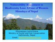 Vulnerability Assessment to Biodiversity Loss - APAFRI-Asia Pacific ...