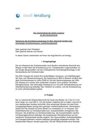 Sanierung Erschliessungstasse Im Boll ... - Lenzburg