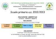 Scuole primarie - Parco di Montevecchia e della Valle del Curone