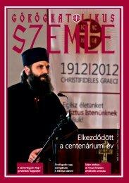 Görögkatolikus Szemle 2012. március - Magyar Görögkatolikus ...