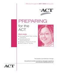 ACT Practice Manual - Penn Manor Blog Site