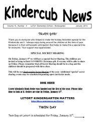 Kindercub News 1_13 - Penn Manor Blog Site