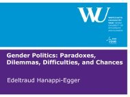 Presentation by Edeltraud Hanappi-Egger - Transform Network