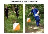 BEM und BC im OL vom 23.-24.06.2007 - orientierungslauf.net