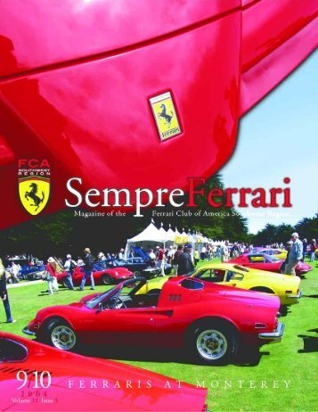 Volume 11 Issue 5 - September/October 2004 - Ferrari Club of ...