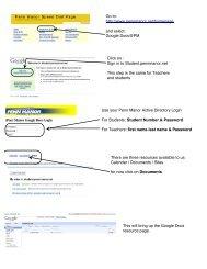Google docs guide sheet - Penn Manor Blog Site