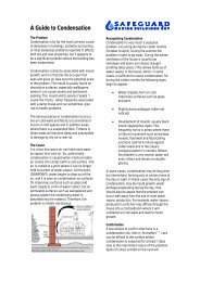 A Guide to Condensation in Buildings - Safeguard Europe Ltd.