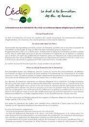 Le droit à la formation des élu -es locaux - Cédis Formation