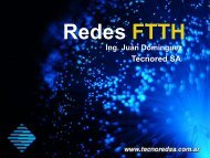 Redes FTTH - TecnoRed