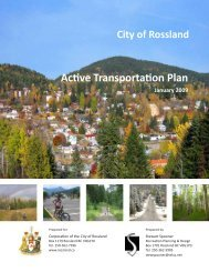 Rossland's Active Transportation Plan - Physical Activity Strategy
