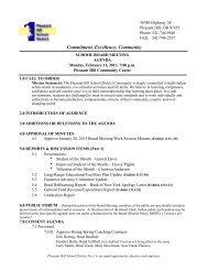 Feb 11 2013 Board Mtg Agenda-2 - Pleasant Hill School District #1