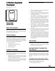 2-Button Keychain Touchpad - Interlogix