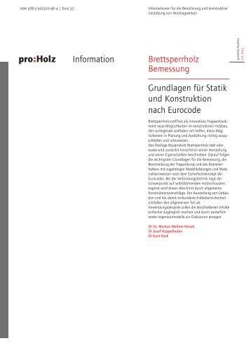 Brettsperrholz Bemessung Grundlagen für Statik und ... - Hasslacher