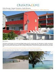 Villa Rouge, Seget Vranjica, Split Riviera - CroatiaGems