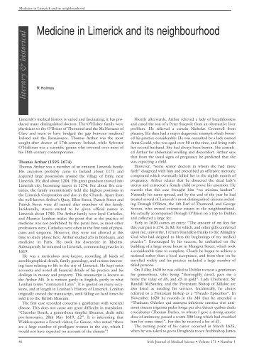 Medicine in Limerick and its neighbourhood - IJMS   Irish Journal of ...