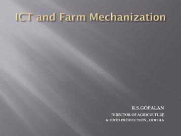 Use of ICT for Delivering Mechanized Agricultural ... - eGovReach