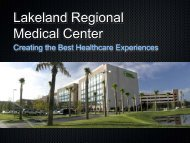 Lakeland Regional Medical Center - Collaborative on Reducing ...