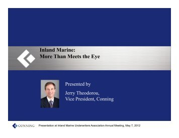 Inland Marine: More Than Meets the Eye - IMUA