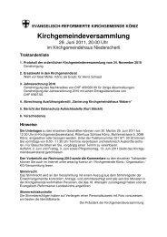 Kirchgemeindeversammlung - Kirchenkreis Liebefeld