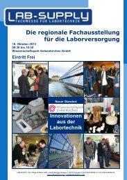 LAB-SUPPLY 2013 Ruhr - Deutsche Metrohm GmbH & Co.