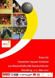 Press Kit Deutscher Squash Verband zur Mannschafts-Em ... - DSQV