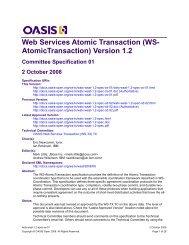 Web Services Atomic Transaction 1.1 - docs oasis open - Oasis