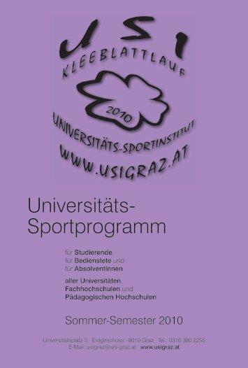 Universitäts- Sportprogramm - Karl-Franzens-Universität Graz