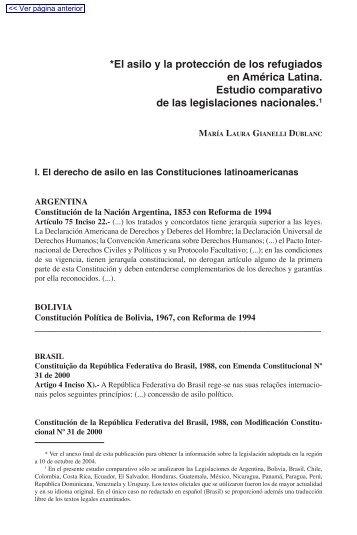 *El asilo y la protección de los refugiados en América Latina ... - Acnur
