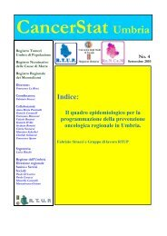 CancerStat Umbria - I tumori in Italia