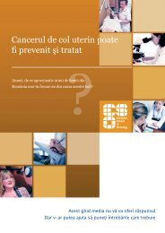Cancerul de col uterin poate fi prevenit şi tratat