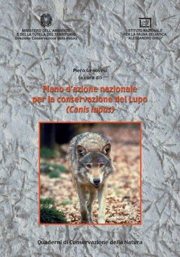Piano d'azione nazionale per la conservazione del Lupo