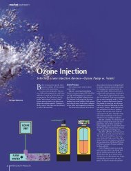 Ozone Injection - Water Quality Products
