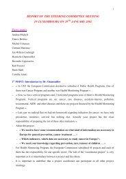 REPORT OF THE STEERING COMMITTEE MEETING IN ...