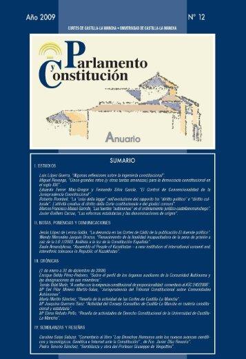Núm. 12 (2009) - Cortes de Castilla-La Mancha