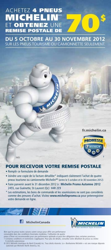 DU 5 OCTOBRE AU 30 NOVEMBRE 2012 - Canadian Tire