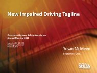 New Impaired Driving Tagline - Governors Highway Safety Association