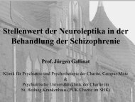Stellenwert der Neuroleptika in der Behandlung der ... - BGSP