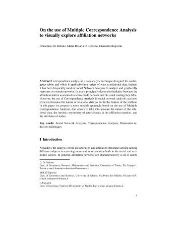 On the use of Multiple Correspondence Analysis to visually explore ...