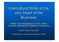 Intercultural Work at the very Heart of the Business - SIETAR Europa
