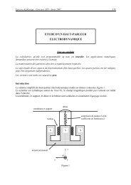 etude d'un haut-parleur electrodynamique - Concours ENSEA