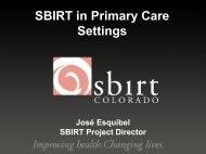SBIRT in Primary Care Settings - UCLA Integrated Substance Abuse ...