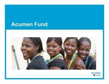 Acumen Fund - Aquaya