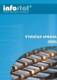 Výročná správa za rok 2005 - Infostat