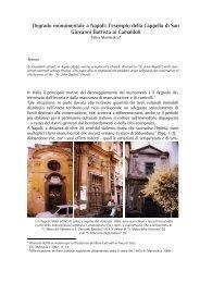 l'esempio della Cappella di San Giovanni Battista ai ... - web journal