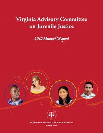 Virginia Advisory Committee on Juvenile Justice: 2010 Annual Report