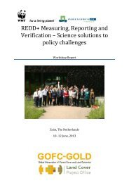 Science solutions to policy challenges - GOFC-GOLD LC-IT Office