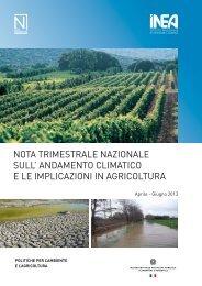 Nota trimestrale INEA - aprile-giugno 2013 - Ambiente e Territorio