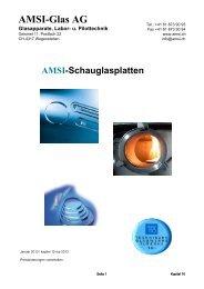 Kapitel 10 Schauglasplatten / Schauglaszylinder - AMSI Glas AG ...