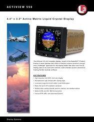 ACTIVIEW 550 - L-3 Communications